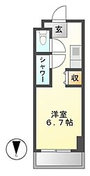 NS ZEAL東別院[12階]の間取り