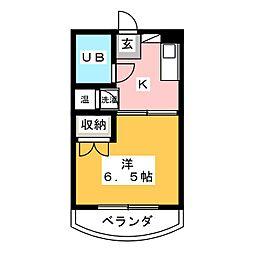 ハイツヤマギワ[2階]の間取り