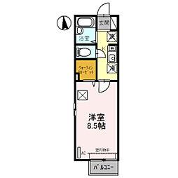 セジュール清風II[1階]の間取り