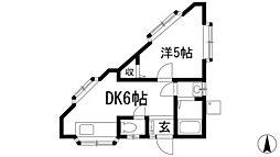 兵庫県川西市矢問1丁目の賃貸マンションの間取り