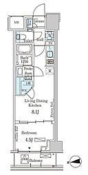 東京メトロ半蔵門線 半蔵門駅 徒歩6分の賃貸マンション 6階1LDKの間取り