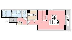 兵庫県姫路市飾磨区妻鹿出口の賃貸アパートの間取り
