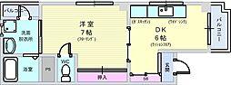 蛍コーポ[3階]の間取り