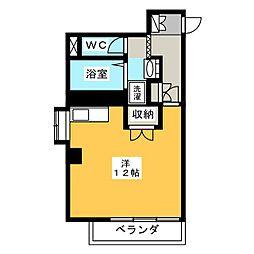 クレセントコート静岡[6階]の間取り