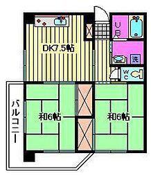 小池第2ビル[402号室]の間取り