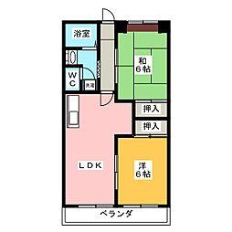 エステートヤマキ[2階]の間取り