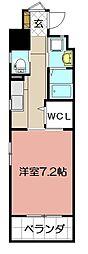 ウイングス重住[2階]の間取り