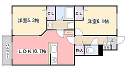 コンフォート大喜[103号室]の間取り