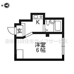 マンションサンウォーター[3階]の間取り