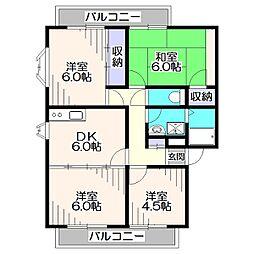 第二サンビレッヂアサノC棟[1階]の間取り