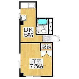 グローシングマンション[1階]の間取り