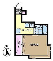 浜勇文庫第3[201号室]の間取り