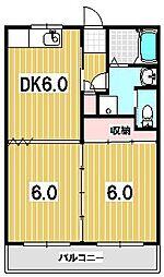 山紫水明館[106号室]の間取り