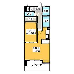 サンモール新道[4階]の間取り