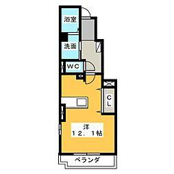メゾンド・ラポール[1階]の間取り