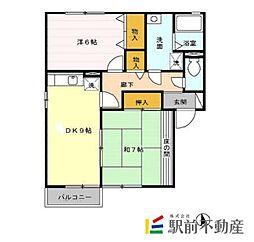 メゾンパークスD棟[2階]の間取り