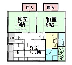 山本文化[2階]の間取り