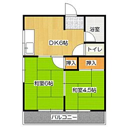 ロイヤルコーポ[3階]の間取り