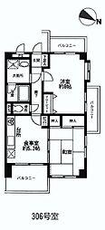 ライオンズマンション鴻巣[306号室]の間取り