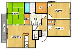 ハウスフリーデII[305号室号室]の間取り