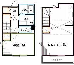 JR中央本線 荻窪駅 徒歩13分の賃貸テラスハウス 1LDKの間取り