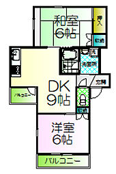 ハビタ霞ヶ丘[2階]の間取り