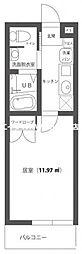 JR山陽本線 西川原駅 徒歩9分の賃貸アパート 1階1Kの間取り
