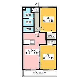 サンシャイン ユタカII[3階]の間取り
