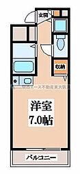 グランメール高井田[4階]の間取り