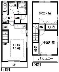 [テラスハウス] 東京都杉並区西荻北3丁目 の賃貸【/】の間取り