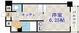 ジュネス関目高殿[2階]の間取り
