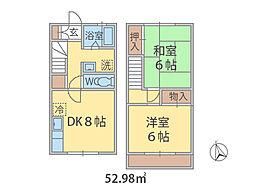 千葉県船橋市駿河台の賃貸アパートの間取り