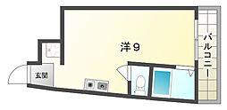 西田土地ビル[4階]の間取り
