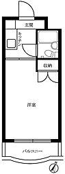 東京都大田区東矢口1丁目の賃貸マンションの間取り