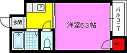 ハイムユタカ[2階]の間取り