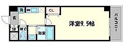 セブンレジデンスニッポンバシ 5階1Kの間取り