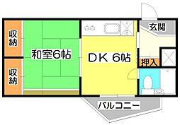埼玉県朝霞市泉水2丁目の賃貸マンションの間取り