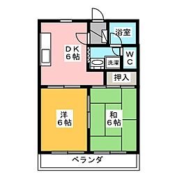 マンションアカツキ[1階]の間取り