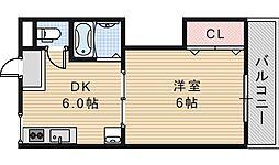 川口マンション[303号室]の間取り