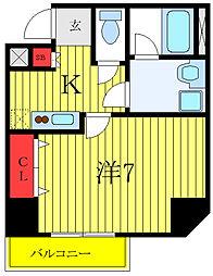 ユリカロゼAZ西台 1階1Kの間取り