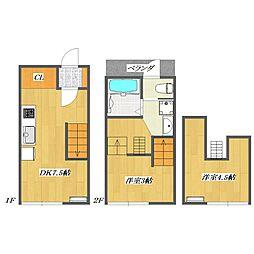 Calico-House 1[114号室]の間取り