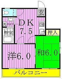 ヴォーヌング柳川[2階]の間取り