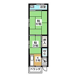 第3昇栄荘[3階]の間取り