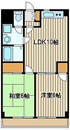 東京都練馬区東大泉1の賃貸マンションの間取り