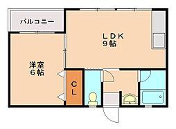 江川ビル[4階]の間取り