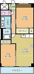 福岡県北九州市小倉北区寿山町の賃貸アパートの間取り