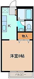 サンライフMIKI[201号室]の間取り