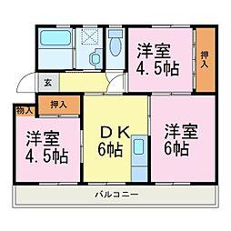 愛知県知多郡阿久比町大字宮津字新海山の賃貸マンションの間取り