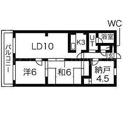 エルハイム[2階]の間取り