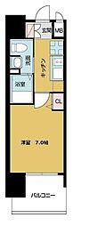 TOYOTOMI STAY PREMIUM ABENO天王寺 8階1Kの間取り